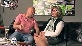 German granny fucks grandson with saggy tits