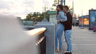 Amateur couple stranger St. Petersburg makes love like there's thimbleful tomorrow's