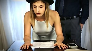 Slender babe Kristen Scott hooks up with her hot blooded teacher