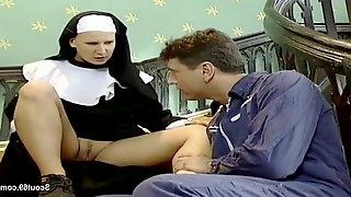 German Nun get her First Fuck from Repairman