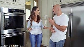Busty brunette MILF whore Ariella Ferrera rides a fat dick for cum
