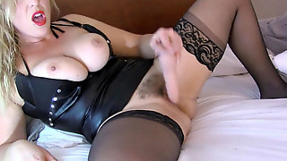 Milf fantasizes about Wanting a gang-fuck