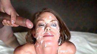 Hot girl gets a creamy bukkake